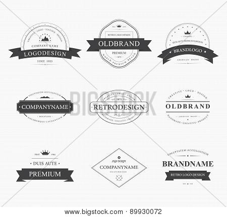Brand and logo design, old tavern badge