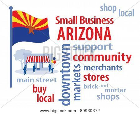 Small Business Arizona, Grand Canyon State Flag