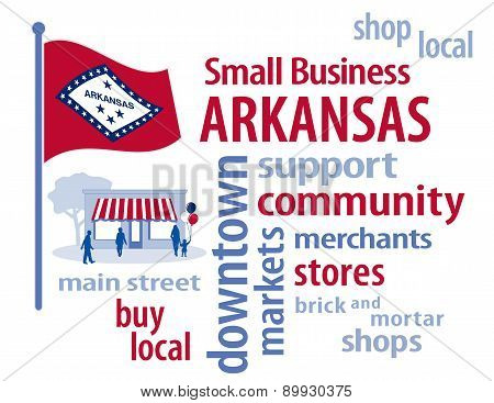 Small Business Arkansas, The Natural State Flag