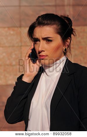 Angly Businesswoman Portrait