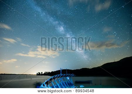 The Milky Way From Kerkini In North Greece