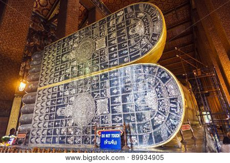 Reclining Buddha's Feet In Wat Pho Temple