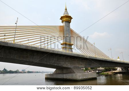 Nonthaburi Bridge In Bangkok