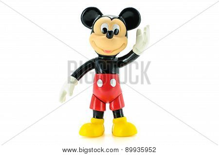 Vintage Toddler Mickey Mouse Action Figure From Disney Character.