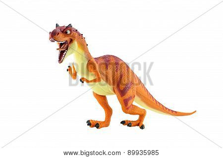 Momma Dino Dinosarus Rex Figure Toy Isolated On White.