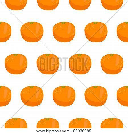 Citrus Orange Seamless Pattern