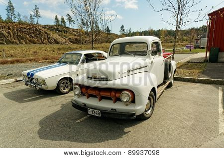 White Ford Pickup