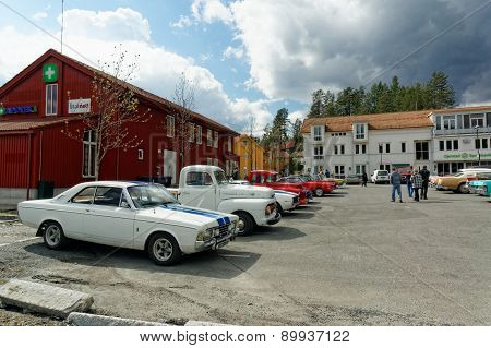American Cars In The Car Park