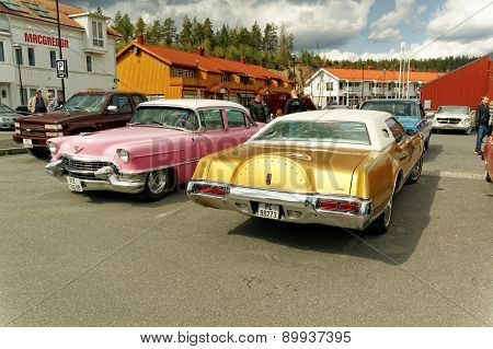 Pink And Gold Cars