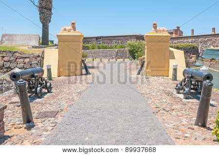 Cannons And Lions Guarding The Castle Of Good Hope