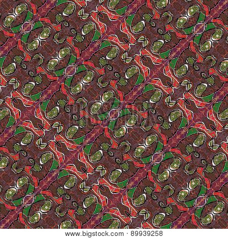 Vintage Geomtetric Abstract Pattern