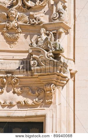 Basilica church of St. Martino. Martina Franca. Puglia. Italy.