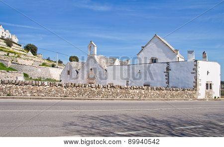 Church of St. Anna. Locorotondo. Puglia. Italy.