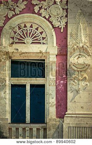 Old Window From Timisoara, Romania, In Vintage Look 2