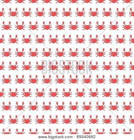 Crab Vector Seamless Pattern