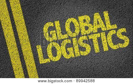 Global Logistics written on the road