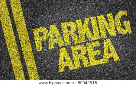 Parking Area written on the road