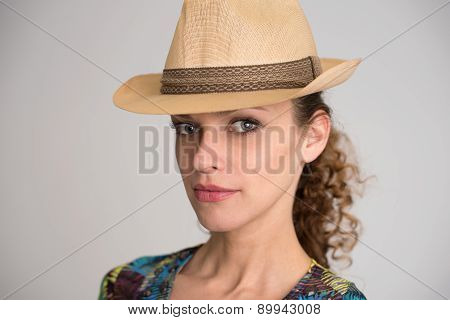 Pretty Young Girl Wearing Hat