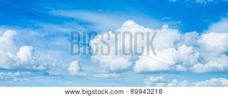 Image Of Clear Sky With White Clouds On Day Time