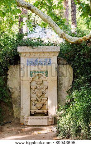A Copy Of The Fountain Of Bakhchisarai In The Nikitsky Botanical Garden