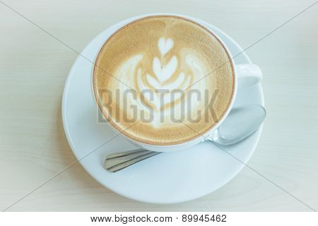 Hot Cup Of Coffee Latte
