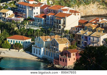 Assos village and beautiful sea bay, Kefalonia island, Greece