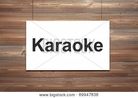 Canvas Hanging On Wooden Wall Karaoke