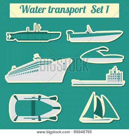Set of water transport icon  for creating your own infographics or maps