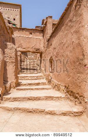 Ait Benhaddou, Morocco: alley