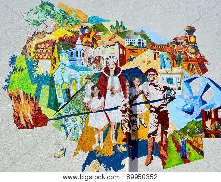 Mural california history
