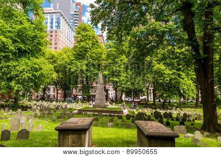 Boston's Freedom Trail With Granary Burying Ground