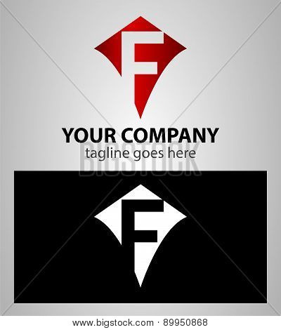 Letter F logo icon design template elements
