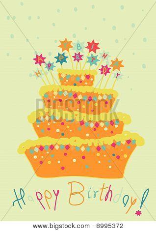 childlike birthday cake