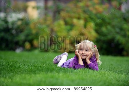 Girl On Grass