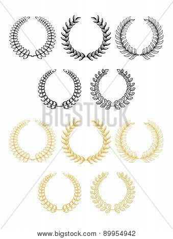 Laurel wreaths in two color variants