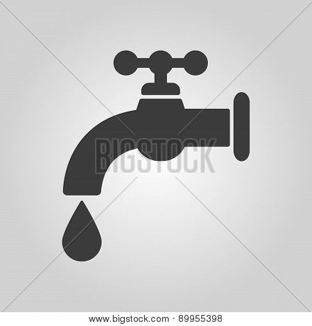 The Tap Water Icon. Water Symbol. Flat