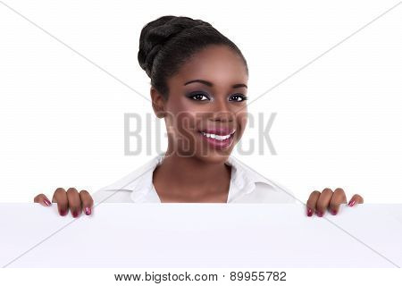 African Business Woman Sign