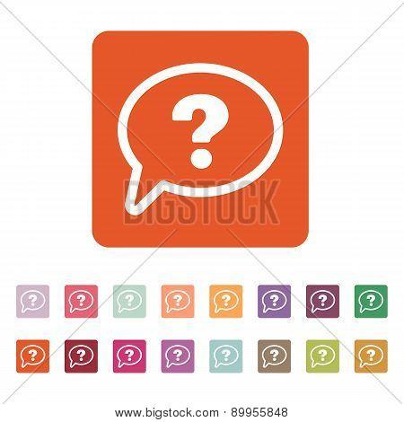 The Question Mark Icon. Help Speech Bubble