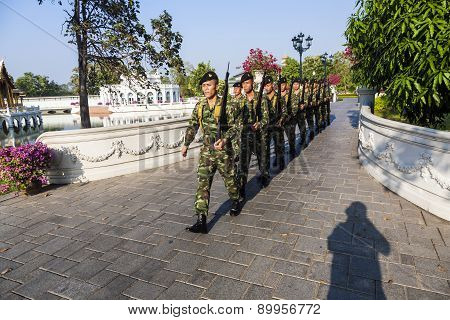 Changing The Guard In Bang Pa In