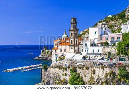 scenic Amalfi coast- pictoria Atrani. Italian holidays