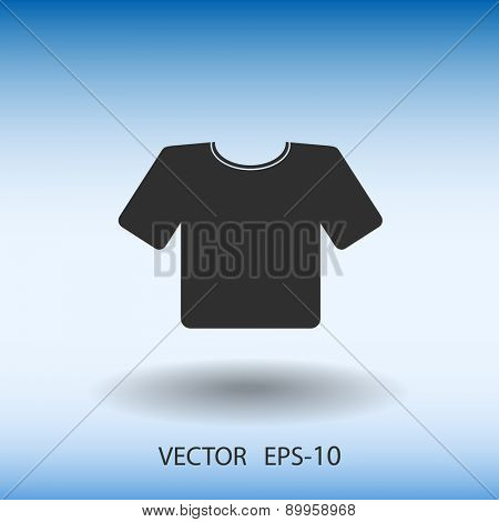 Flat T-Shirt icon. Vector