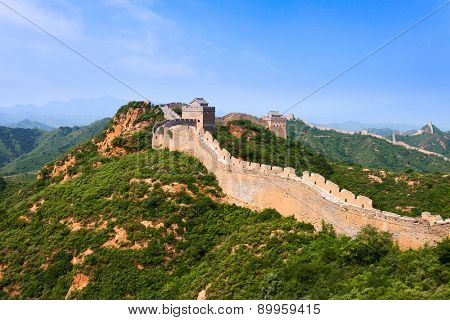Great wall under sunshine