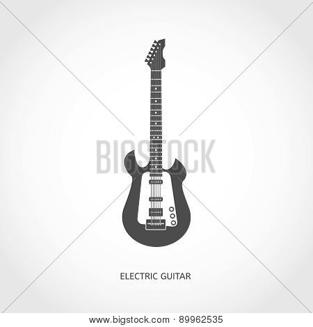 Musical instrument guitar flat icon