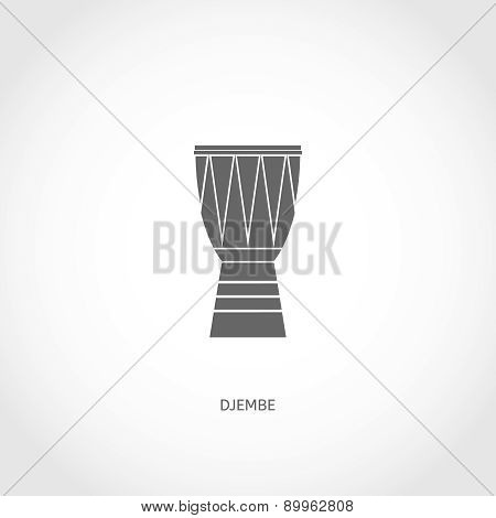Musical instrument djembe flat icon