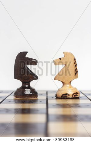 Chess Isolated On Chessboard