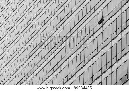 Transparent Black And White Glass Texture Of Modern Windows