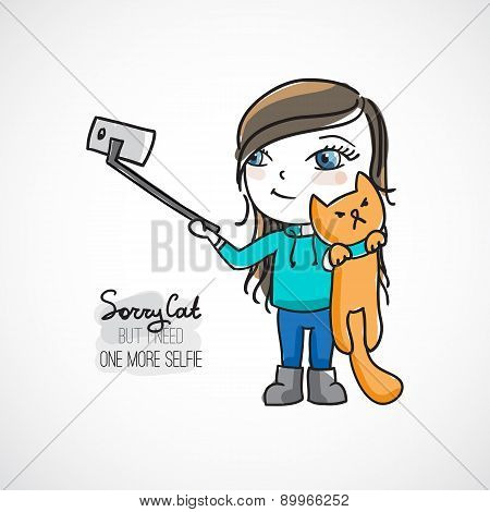 selfie with cat