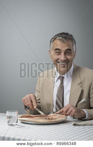 Businessman Having His Lunch Break