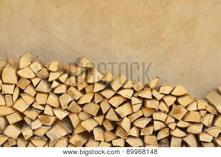 Firewood Near The Wall