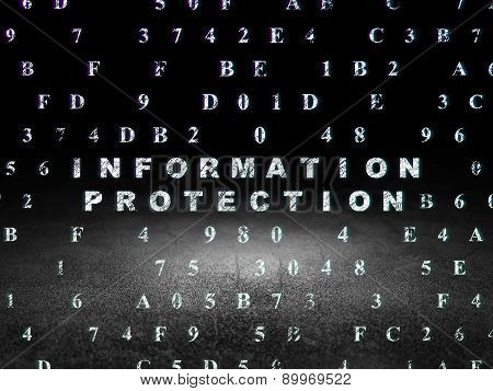 Protection concept: Information Protection in grunge dark room